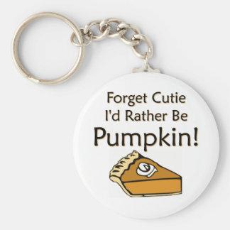 Pumpkin Pie Basic Round Button Keychain