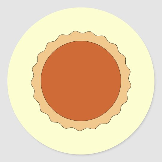 Pumpkin Pie. Classic Round Sticker
