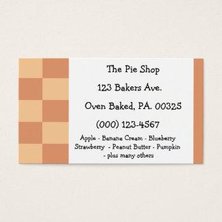 Pumpkin Pie Colors Business Card