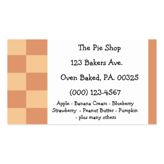 Pumpkin Pie Colors Double-Sided Standard Business Cards (Pack Of 100)