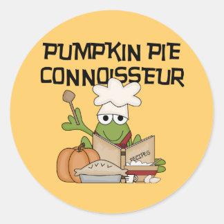 Pumpkin Pie Connoisseur Tshirts and Gifts Classic Round Sticker