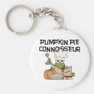 Pumpkin Pie Connoisseur Tshirts and Gifts Keychain
