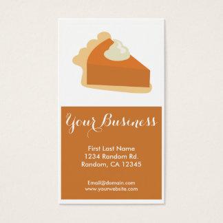 Pumpkin pie customizable business cards