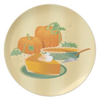 Pumpkin Pie Dinner Plate