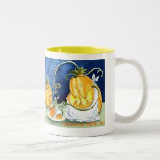 Pumpkin Pie Eater Two-Tone Coffee Mug