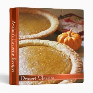 Pumpkin Pie Favorite Recipe Vinyl Binders