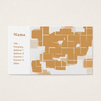 """Pumpkin Pie"" Geometric Abstract Business Card"