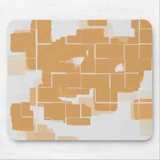 """""""Pumpkin Pie"""" Geometric Abstract Mouse Pad"""