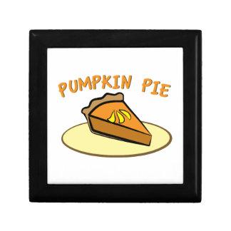 Pumpkin Pie Keepsake Boxes