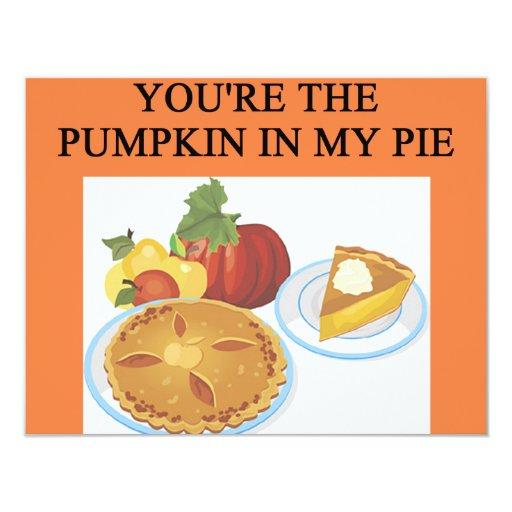 PUMPKIN pie lovers 4.25x5.5 Paper Invitation Card
