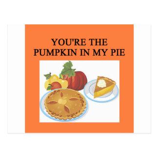 PUMPKIN pie lovers Post Card