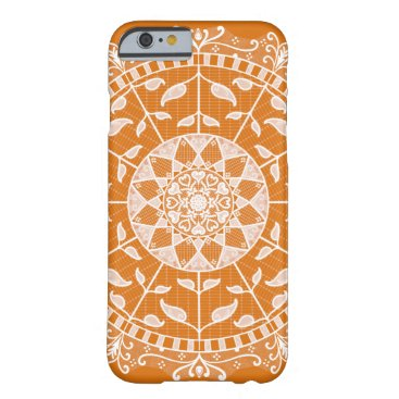 Halloween Themed Pumpkin Pie Mandala Barely There iPhone 6 Case