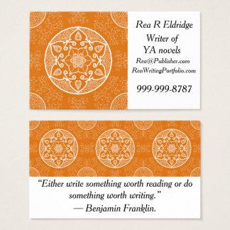 Pumpkin Pie Mandala Business Card