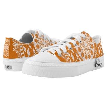 Halloween Themed Pumpkin Pie Mandala Low-Top Sneakers