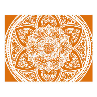 Pumpkin Pie Mandala Postcard