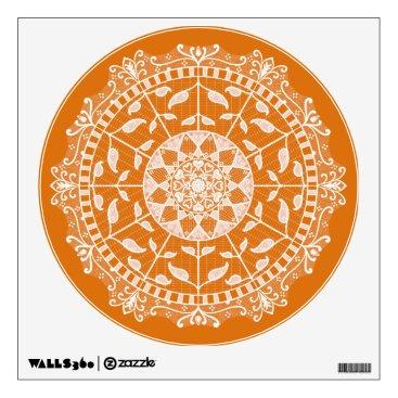 Halloween Themed Pumpkin Pie Mandala Wall Sticker