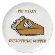 Pumpkin Pie Melamine Plate