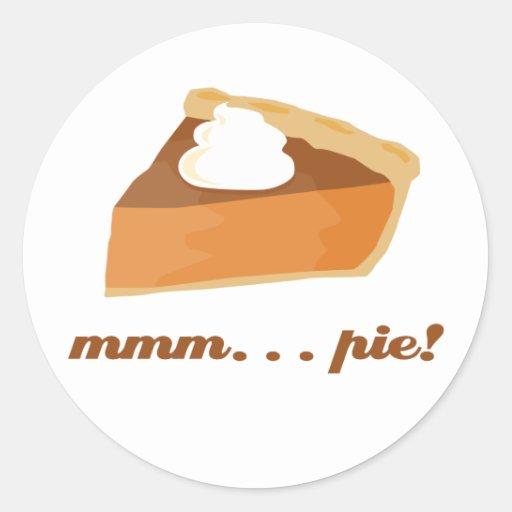 Pumpkin Pie - mmm . . . pie! Classic Round Sticker