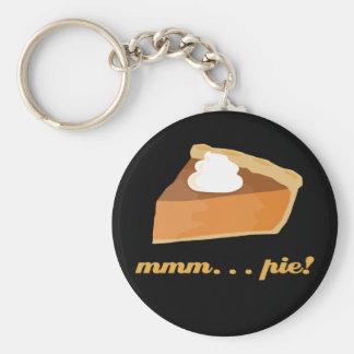 Pumpkin Pie - mmm . . . pie! Basic Round Button Keychain