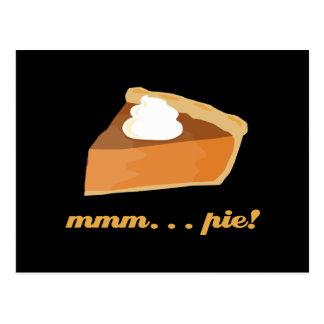 Pumpkin Pie - mmm . . . pie! Postcard