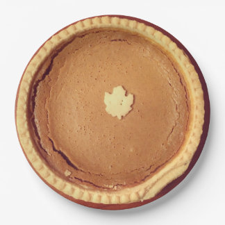 Pumpkin Pie Paper Plate