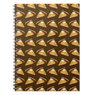 Pumpkin Pie Pattern Brown Autumn Notebook
