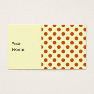 Pumpkin Pie Pattern. Business Card