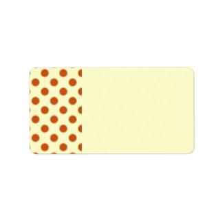 Pumpkin Pie Pattern. Custom Address Labels