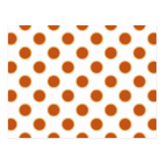 Pumpkin Pie Pattern. Postcard
