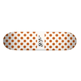 Pumpkin Pie Pattern. Custom Skate Board