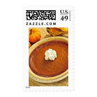 Pumpkin pie postage stamp