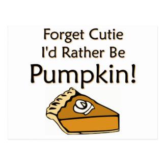 Pumpkin Pie Postcard