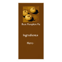 PUMPKIN PIE RECIPE CARD: ART RACK CARD