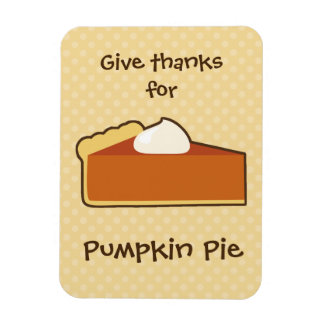 Pumpkin Pie Rectangular Photo Magnet
