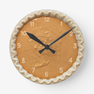 Pumpkin Pie Round Clock