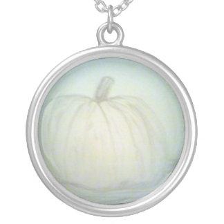 Pumpkin Pie Round Pendant Necklace