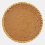 Pumpkin Pie Round Stickers