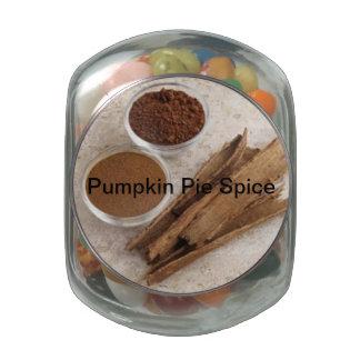 Pumpkin Pie Spice Gift Jar Jelly Belly Candy Jar