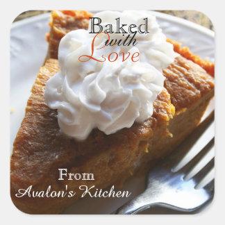 Pumpkin Pie Square Baking Stickers
