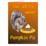 Pumpkin Pie Squirrel Card