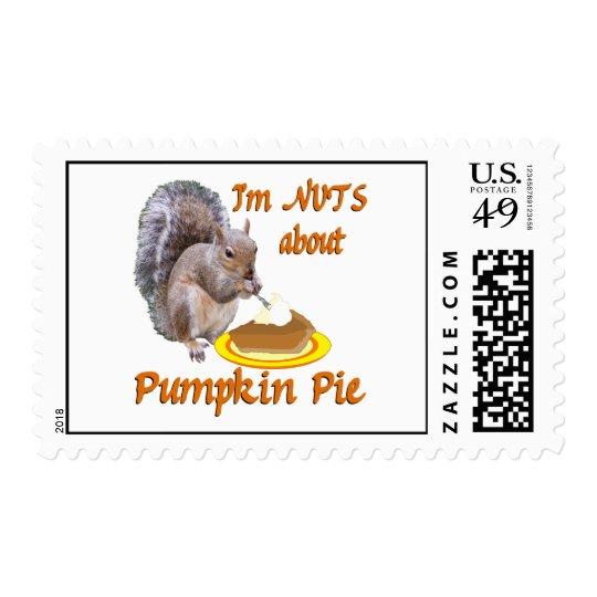 Pumpkin Pie Squirrel Postage