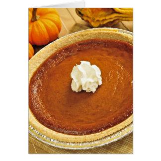 Pumpkin pie stationery note card