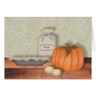 Pumpkin Pie Thanksgiving Card