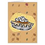 pumpkin pie whipped cream greeting card
