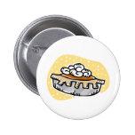 pumpkin pie whipped cream pinback button