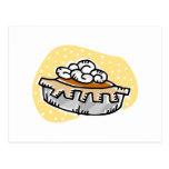 pumpkin pie whipped cream postcard