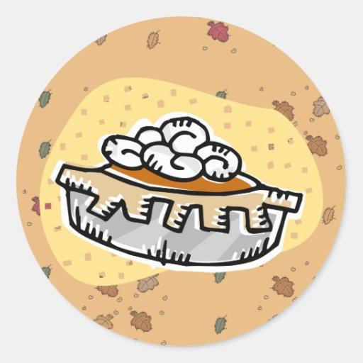 pumpkin pie whipped cream round stickers