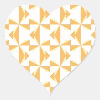 Pumpkin Pinwheels Heart Sticker
