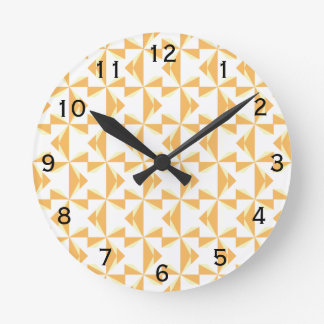 Pumpkin Pinwheels Round Clock