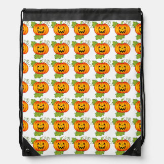 Pumpkin Cinch Bags